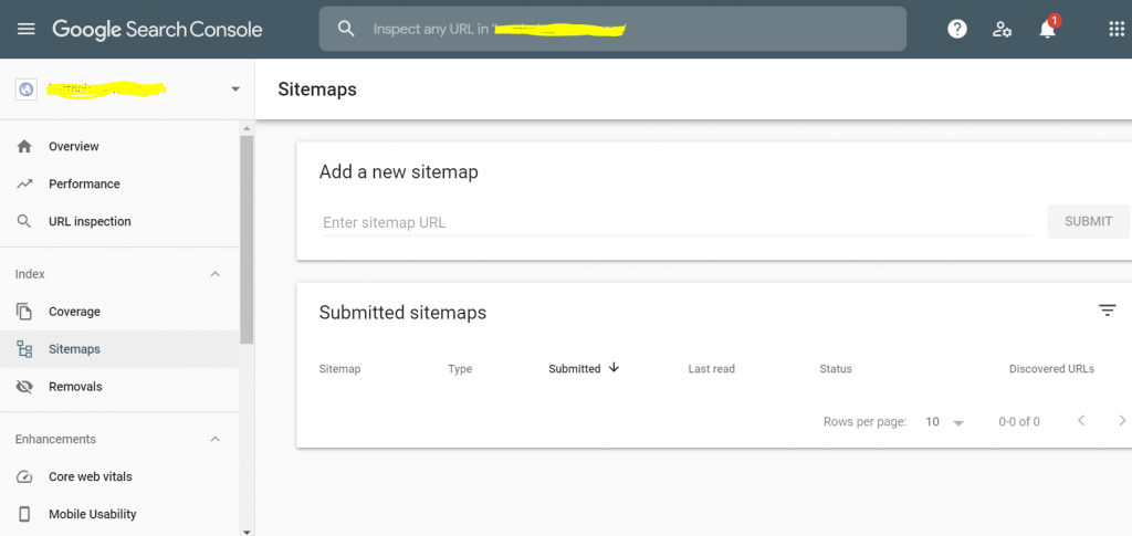 submit Yoast sitemap to Google via Search Console